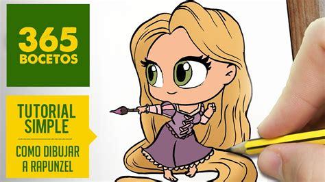 como dibujar  rapunzel dibujar princesas disney en espanol dibujos kawaii faciles youtube