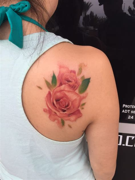 Watercolor Rose Tattoo By Andrew Audish Yelp