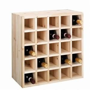 Range Bouteille Bois : casier bouteilles de vin bois naturel pour 25 bouteilles zeller ~ Teatrodelosmanantiales.com Idées de Décoration