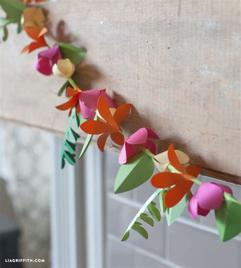 spring paper flower garland lia griffith