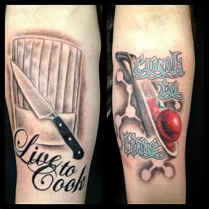Bobby Holland • Did some chef tattoos the other day.