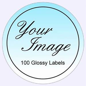 custom logo stickers or business labels 100 2 inch glossy With glossy circle labels