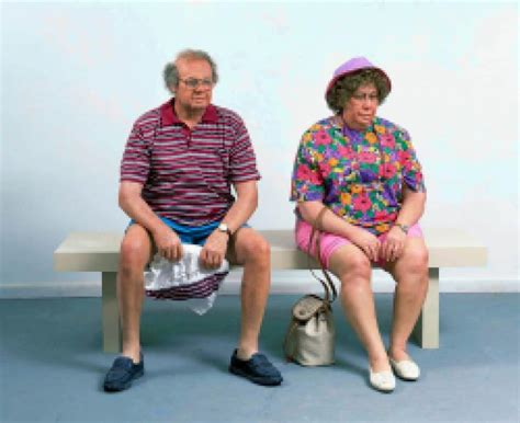 window bench with duane hanson on a bench contemporary
