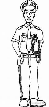 Police Coloring Officer Pages Security Guard Drawing Policeman Printable Officers Print Kleurplaat Template Sheet Sketch Ninjago Lego Getdrawings Malvorlagen sketch template
