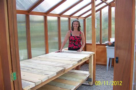 ana white heavy bench   greenhouse modified