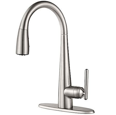 stainless steel lita pull kitchen faucet gt529 sms