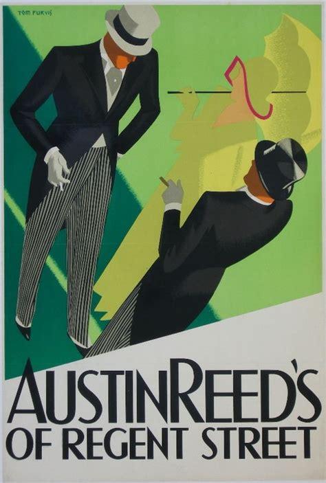 vintage advert poster  tom purvis austin reeds art