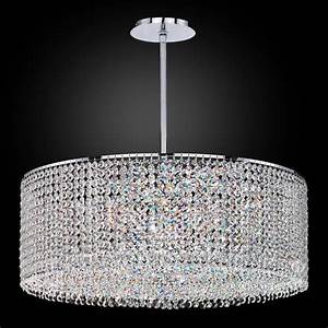 Drum shape crystal pendant chandelier urban chic
