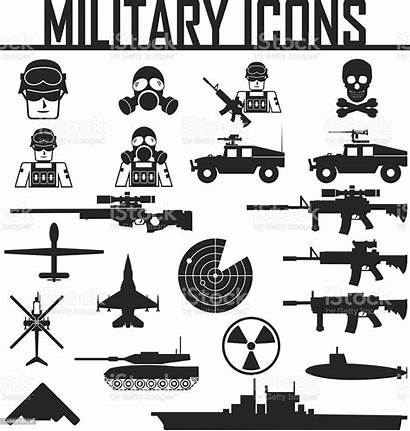 Military Vector Icons Illustration Eps Army Vehicle