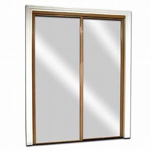 shop reliabilt mirror steel sliding closet interior door With miroir 80 x 60