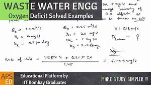 Oxygen Sag Curve Solved Examples | Waste Water Engineering ...