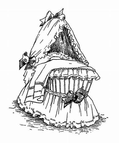 Bassinet Illustration Clip Digital Illustrations Clipart Scrapbooking