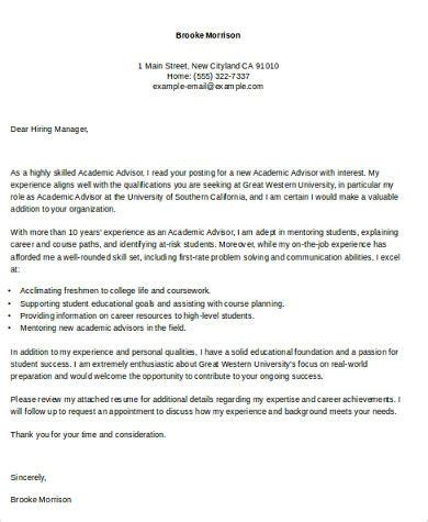 sample academic cover letter  examples  word