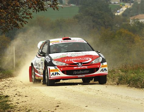peugeot 206 rally peugeot 206 wrc rally car editorial photography image of