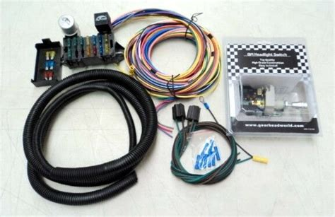 deluxe 15 universal rod wiring wire kit bonus with headlight switch new ebay