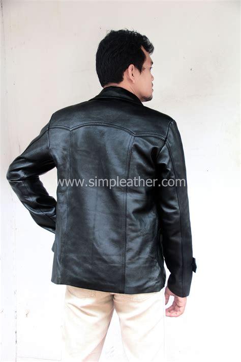 jaket kulit pria jas semi jas tipe  simple leather