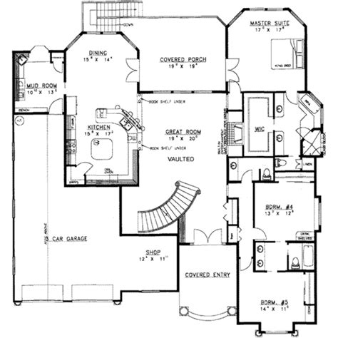 traditional style house plan  beds  baths  sq