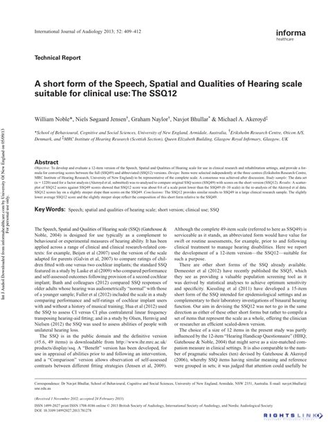 pdf a form of the speech spatial and qualities of