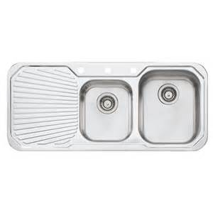 oliveri 1080mm 1 75 right hand bowl petite sink with 1 tap