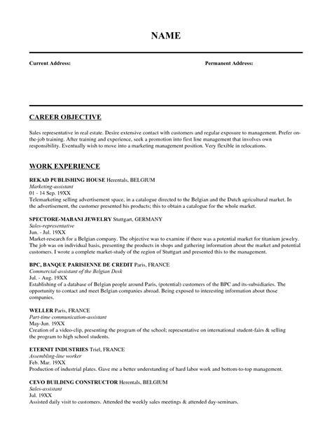 objective resume sales representative 28 images sle