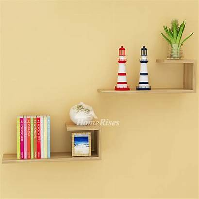 Wall Shelves Mounted Hanging Wooden Contemporary