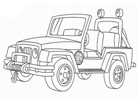 safari jeep coloring pages coloring page