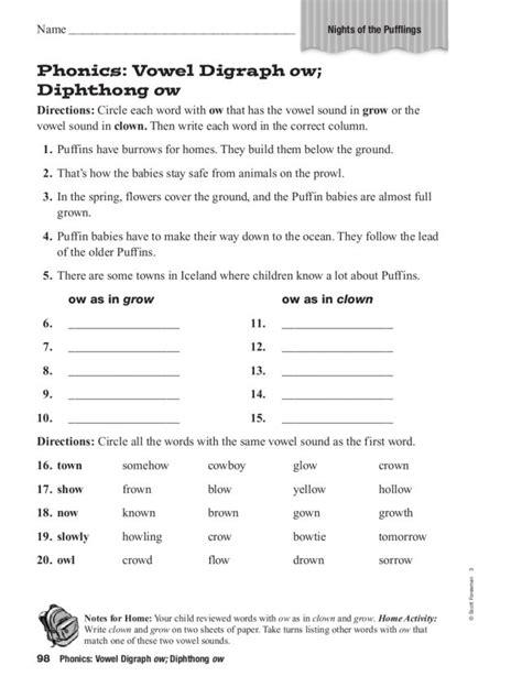 diphthong worksheet diphthong worksheets worksheets