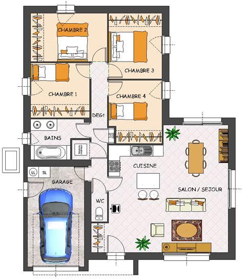 maison 4 chambres plain pied construction maison neuve satine lamotte maisons