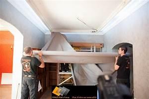 papier peint plafond castorama maison design bahbecom With peindre un plafond tendu