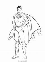 Coloring Superman Da Colorare Pages Disegni Super Draw Marvel Standing Explore sketch template