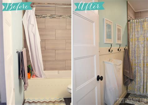 A Diy Beadboard Hook Wall In The Kids' Bathroom  The Diy