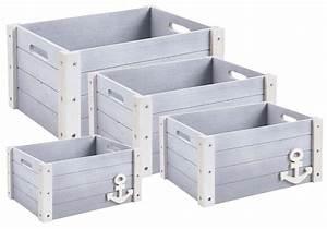 Caisse Bois Rangement : caisse de rangement en bois marina lot de 4 ~ Teatrodelosmanantiales.com Idées de Décoration