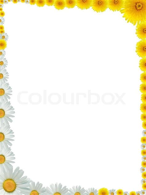 schoene rahmen aus vielen gelben stock bild colourbox