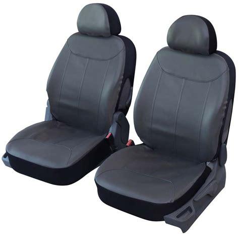 siege auto l avant housses de sièges avant auto simili cuir gris elite