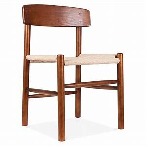 chaise de salle a manger design de style j39 marron cult With chaises de salle a manger de style