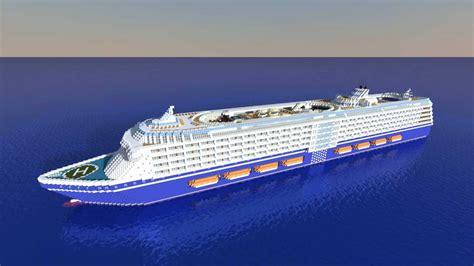 minecraft huge cruise ship youtube