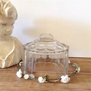 Cloche Verre Deco : ancienne cloche en verre moul e poque d but xx me art d co vintage ~ Teatrodelosmanantiales.com Idées de Décoration