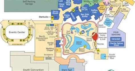 Mandalay Bay Floor Plan Map by Mandalay Bay Las Vegas Map Mandalay Bay Casino Floor Map
