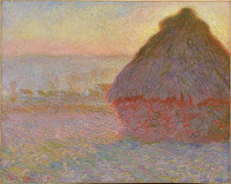 grainstack sunset museum  fine arts boston