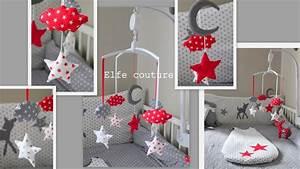deco chambre bebe gris et rouge visuel #4