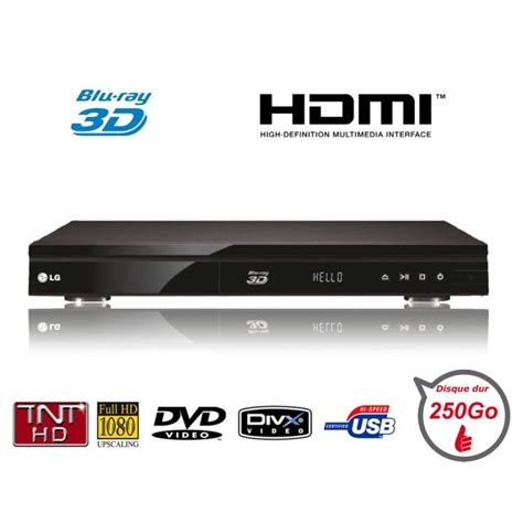lecteur dvd blue lg hr822t lecteur 3d enregistreur tnt hd lecteur avis et prix pas cher