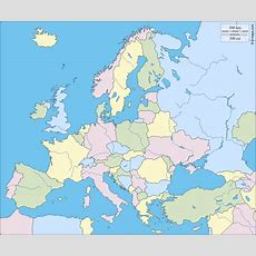 Europa  Kostenlose Karten, Kostenlose Stumme Karte