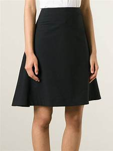 Acne A-line Skirt in Black | Lyst