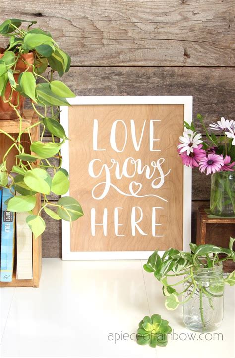 easy diy wood wall art  hand lettered quotes double