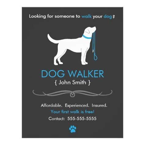 dog walker walking business flyer template business