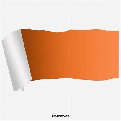 Paper Torn Orange Papel Pngtree Psd Rasgado