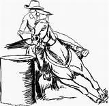 Barrel Racing Horse Race Drawing Horses Drawn Racer Getdrawings sketch template