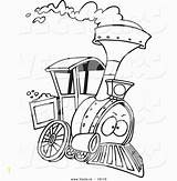 Train Steam Cartoon Drawing Engine Coloring Trains Printable Outlined Caboose Leishman Ron Engines Toonaday Divyajanani Vectors sketch template