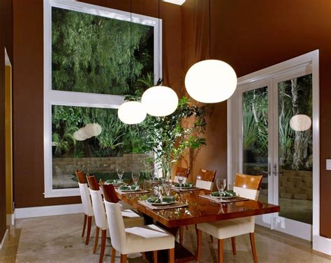choosing  matched modern dining room lighting