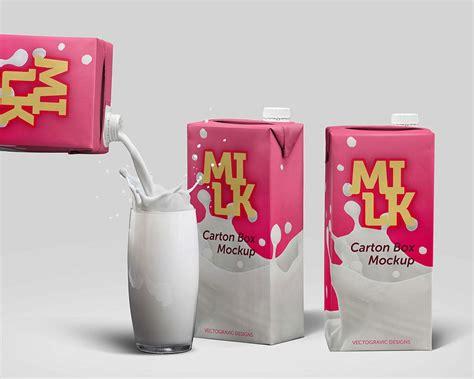 milk carton milk box mockup mockupworld